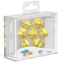 Oakie Doakie Dice RPG Set (7) Marble - Yellow