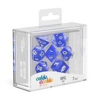Oakie Doakie Dice RPG Set Translucent Dice - Blue