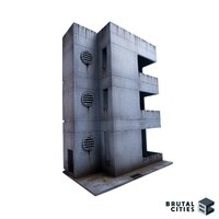 Brutal Cities MDF Terrain: Vantann Office Building Small