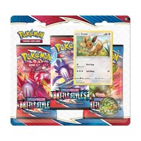 Pokemon TCG Sword and Shield - Battle Styles Eevee Three Booster Blister