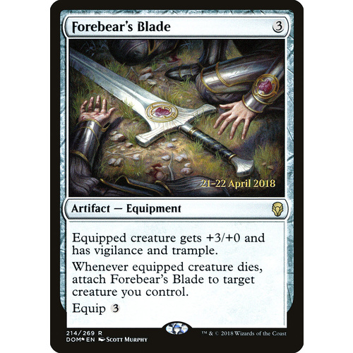 Forebear's Blade Pre-Release FOIL - DOM